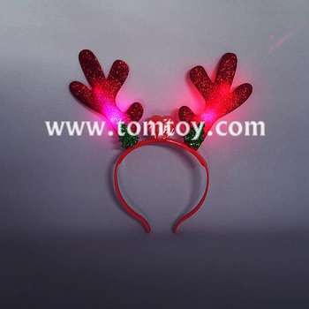 2018 LED Flashing Christmas Reindeer Antler Glitter Headbands
