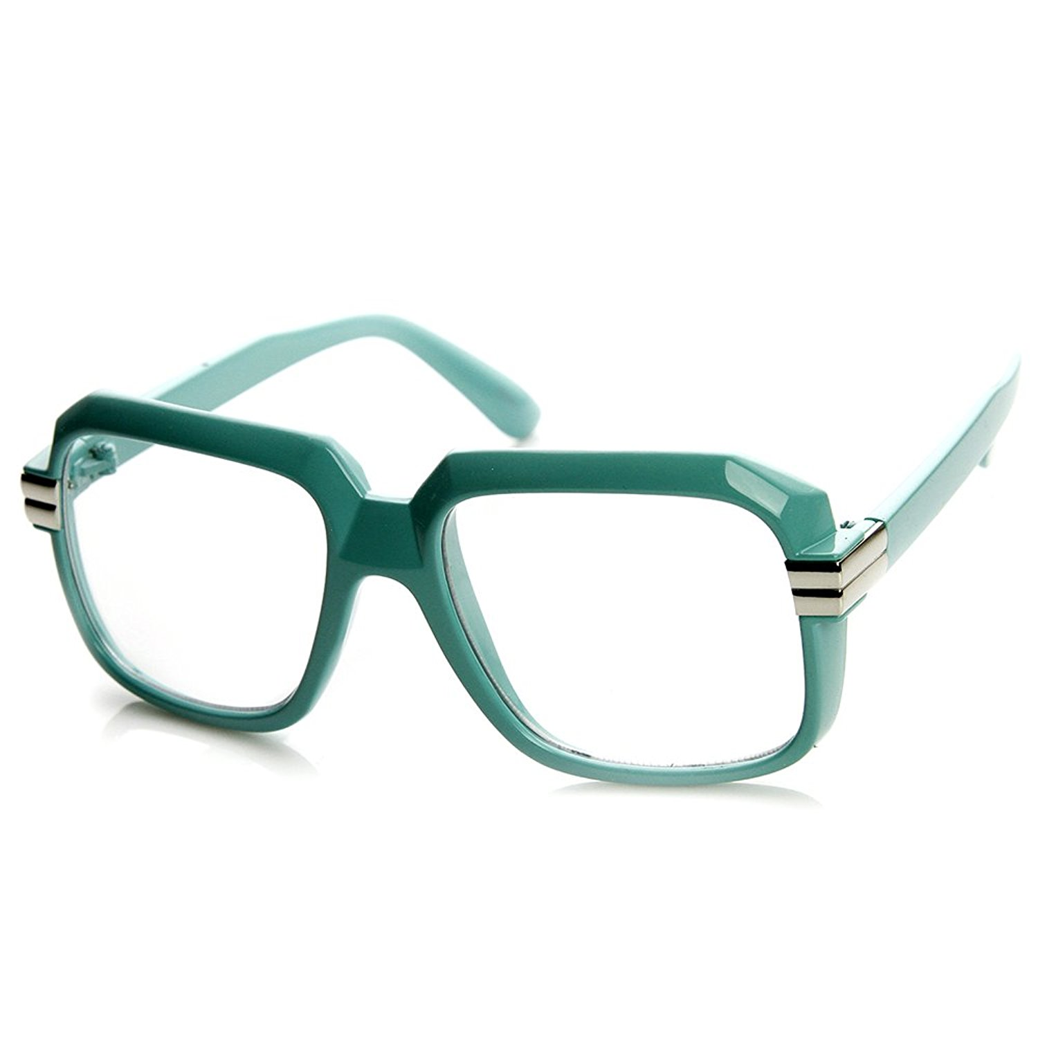 010589ef34 Get Quotations · zeroUV - Colorful Square Frame Plastic Hip Hop Retro Hip-Hop  Glasses
