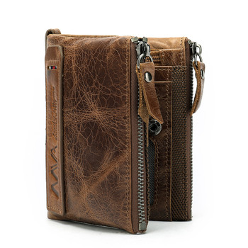 Factory Drop Shipping OEM ODM Luxury Vintage Genuine Leather Rfid Blocking Men Wallet 2020 Leather Purse 9050