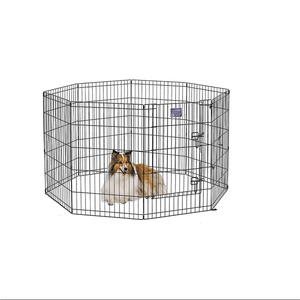 popular eight panels black strong dog play pen