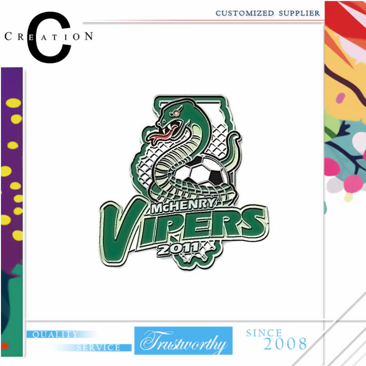 Vipers Soccer Fashion Team Memorialize Souvenir Pins Make Your Own Lapel Pins Badge Promotion Pin Lapel