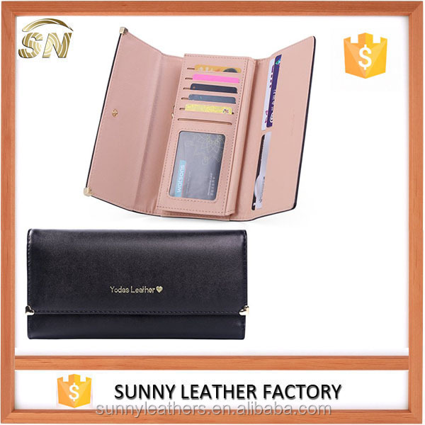 Nice leather fashion female wallets cheap wholesale Guangzhou