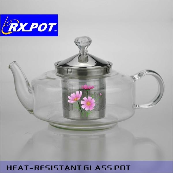 Pyrex Glass Borosilicate Tea Pot With Ss Lid (350x4)