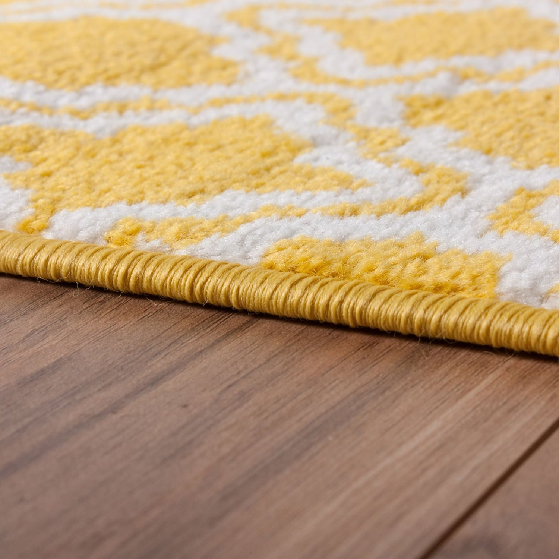 Generic Small Rug Mat Doormat Modern Kids Room Kitchen Calipso Blue Lattice Trellis Accent Area Entry Way Bright Carpet Bathroom Soft Durable