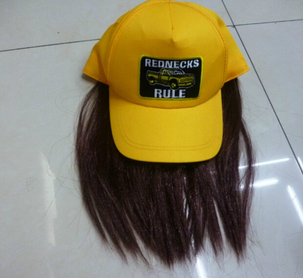 baseball cap hair attached design colour fake hats wholesale