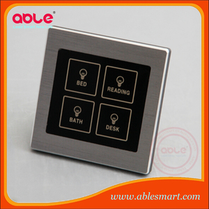 European and UK Type hotel Touch LED Lighting Switch