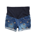 Plus Size Denim Shorts For Pregnant Women Summer Care Belly Jeans Fashion Cartoon Maternity Shorts All