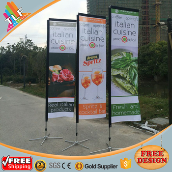 New products cheaper rectangle square flag water bag block banner flag
