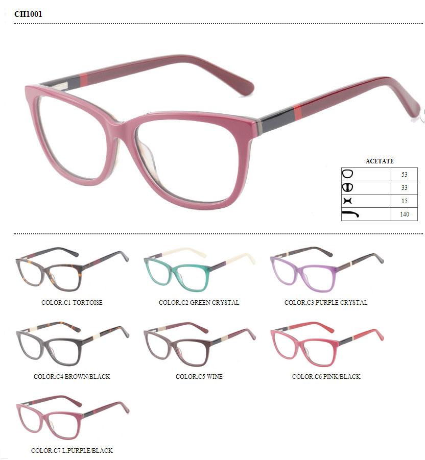 Gafas de acetato dama borde completo marco gafas de marca en línea ...
