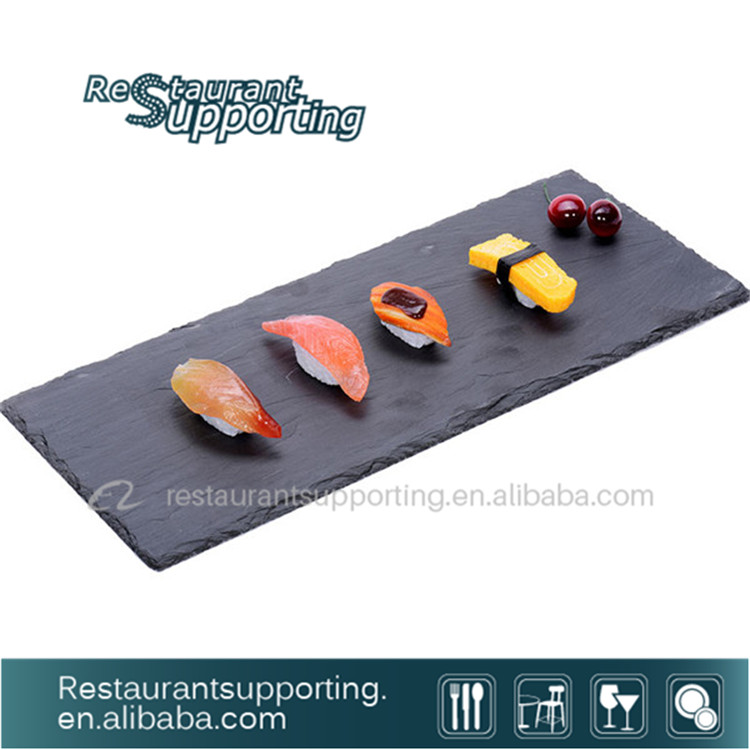 Ret ngulo ard sia sushi prato prato de servir comida for Utensilios para servir comida
