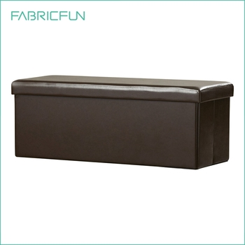 Cool Decorative Rectangular Collapsible Faux Leather Ottoman Pouf Bench Buy Faux Leather Ottoman Faux Leather Storage Bench Storage Ottoman Product On Ibusinesslaw Wood Chair Design Ideas Ibusinesslaworg