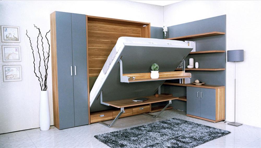 Moderne enkele verborgen meubels murphy bed muur bed bureau buy