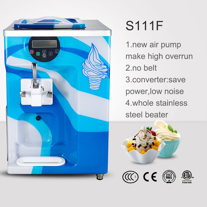 2015 Best Price italian Pre-cooling System real fruit ice cream machine s111f