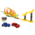 Amazon hot sell kids pull back track toy car slot railway toy set