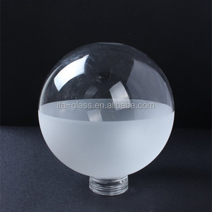 frosted round globe halogen bulb light glass lamp cover