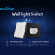 Original Broadlink TC2 433MHz Touch Panel Switchboard Intelligent Remote Control Lamp Light Switch UK Standard For Smart Home