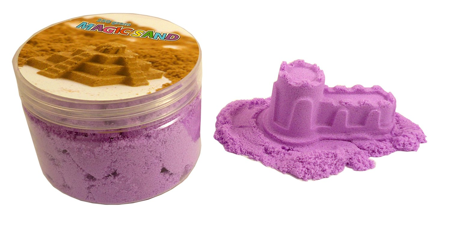 Magic Sand Refill - 250g- PURPLE - Play Sand With No Mess! - Sculpture, Mold ...