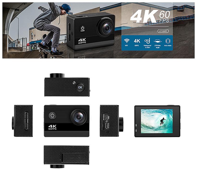 2020 Akaso EK7000 4K 60fps 와이파이 울트라 HD 방수 DV 캠코더 H9R 스포츠 액션 카메라