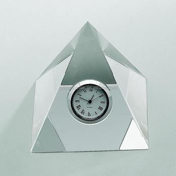 Desk Top Crystal Pyramid Clock Buy Crystal Pyramid Clock Crystal Mini Clocks Crystal Desk Clock Product On Alibaba Com