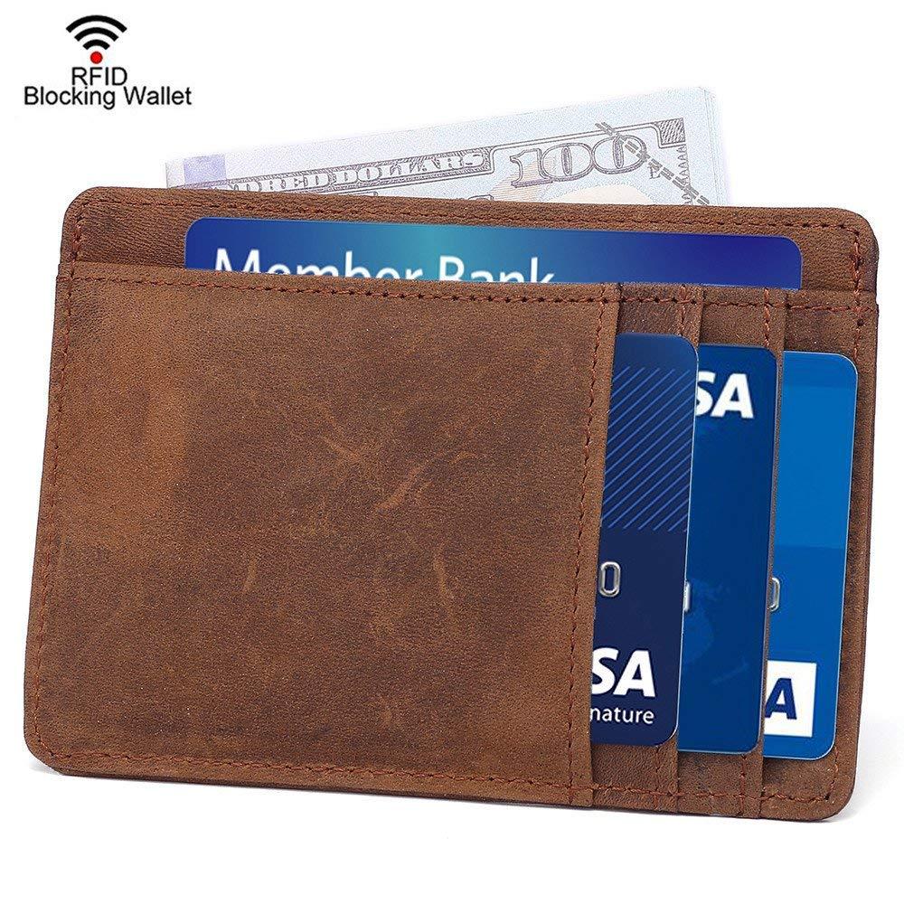 938ccf3b27a RFID Slim Wallet Minimalist Front Pocket Wallet Secure Thin Credit Card  Holder