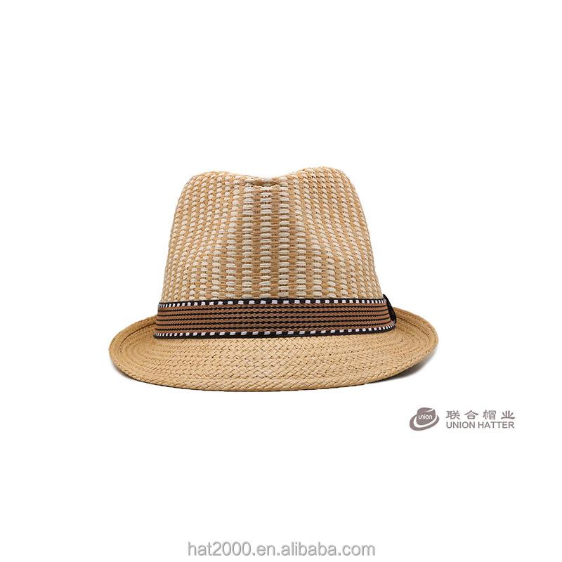 Nouveau Classique Hommes Femmes De Paille Fedora Chapeau
