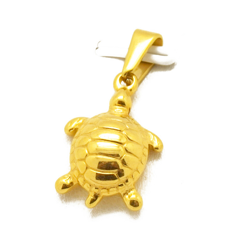 Olivia Online Shop Stainless Steel Custom Made Jewelry Hiphop Sea Turtle Women Necklace Pendant