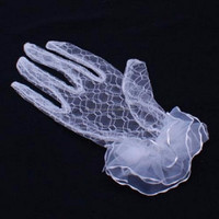 White Bride Lace Gloves For Wedding/Girls Party Gloves