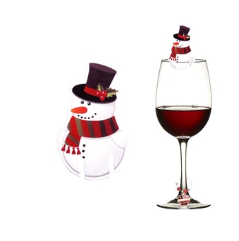 Christmas Decoration Christmas Paper Snowman Wine Glass Decoration View Wine Glass Decoration Microstar Product Details From Yiwu Microstar