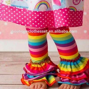 4a9fffeae Persnickety girls rainbow ruffle capris toddler ruffle caprics baby icing  ruffle pants