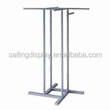 4 Arm Garment Metal Display Rack for Retail Stores