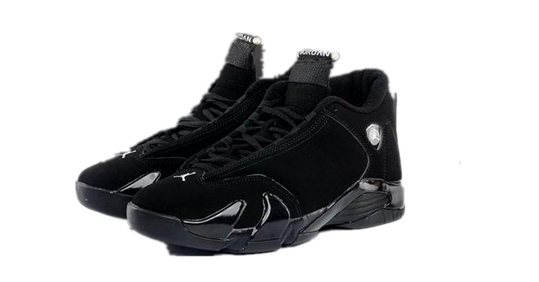ea5072756fd0 Get Quotations · N1KE Air Jordan 14 Men Black Retro Basketball shoes AJ14  Size 11