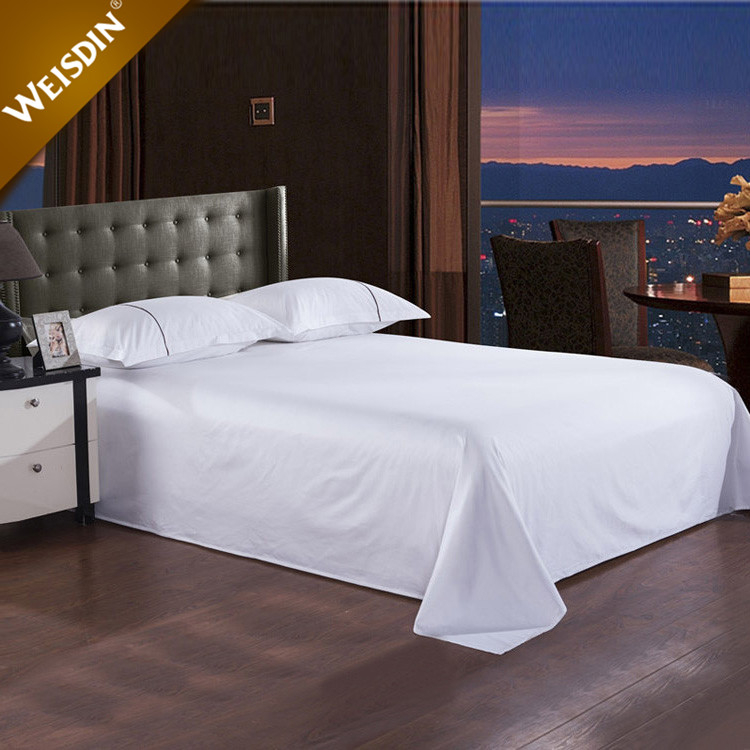 China latest designs queen size hotel 100% cotton flat sheet set wholesale bed sheets
