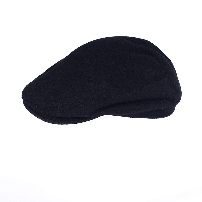 05ac38a5665 Get Quotations · OrlovNY Men s Black Wool Blend Flat Cap newsboy Cap Warm  Winter Driving Classic 8 Panel Hat