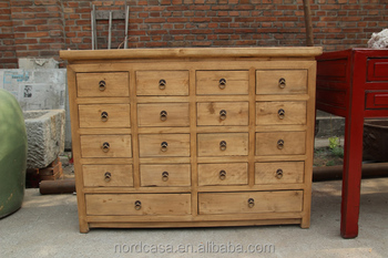 Merveilleux Recycle Pine Wood Chinese Antique Style Medicine Cabinet