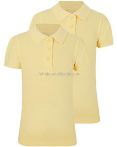 high school Ribbed Collar School Polo Shirts school uniform design