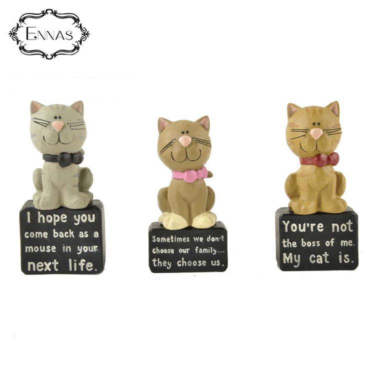 Customized handmade birthday gifts cute little cat unique resin crafts