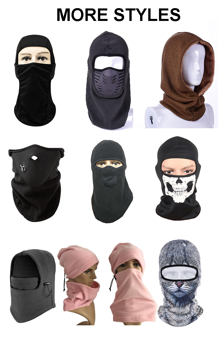 5082355696b41 Custom 3 Hole Ski Mask Warm Full Face Mask Knitted Balaclava Winter ski Hats  Private Label