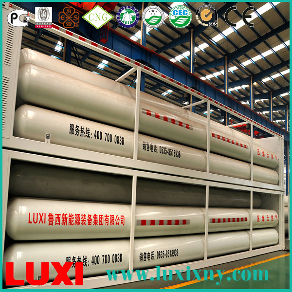 natural gas containers 25Mpa cng tube trailer gas fuel tanks , ngv cylinder for vehicle