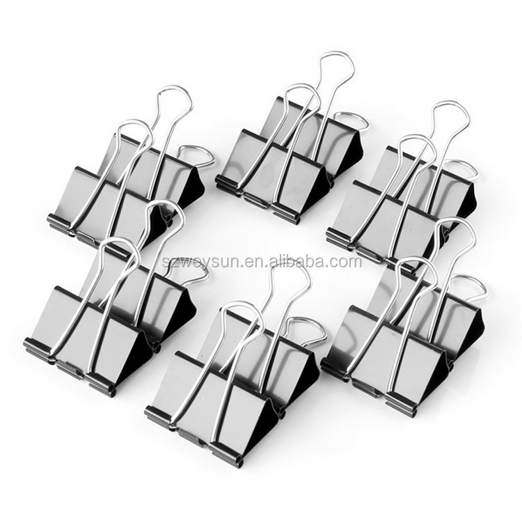 Black Paper binder clips