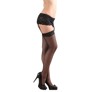 European and American Erotic Lingerie Sexy Lace Garter + Stockings