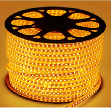 Super bright 220v led strip light with AC power cord plug waterproof 5050 smd flexible led strip 60pc leds/m high voltage strip