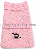 Best selling custom logo posh fleece dog jacket pink leopard clothes pets product32