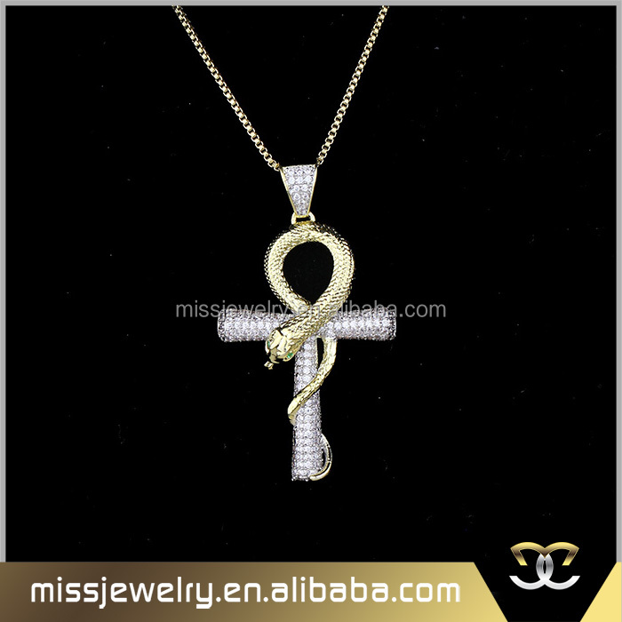 Miss Jewelry hip hop jesus cross necklace 2017, gold cross necklace wholesale