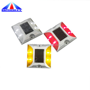 6leds Die Casting Aluminum Solar Road Studs, IP68 Waterproof Solar Driveway Road Marker With Constant or Flashing