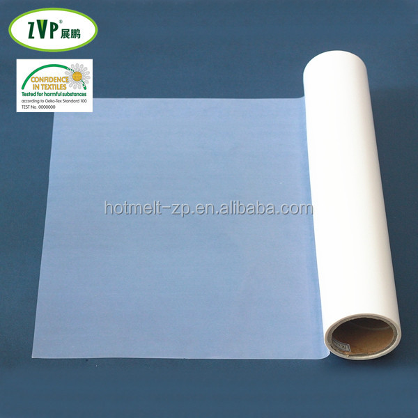 high bonding polyester hot melt adhesive film with paper for fabric textile