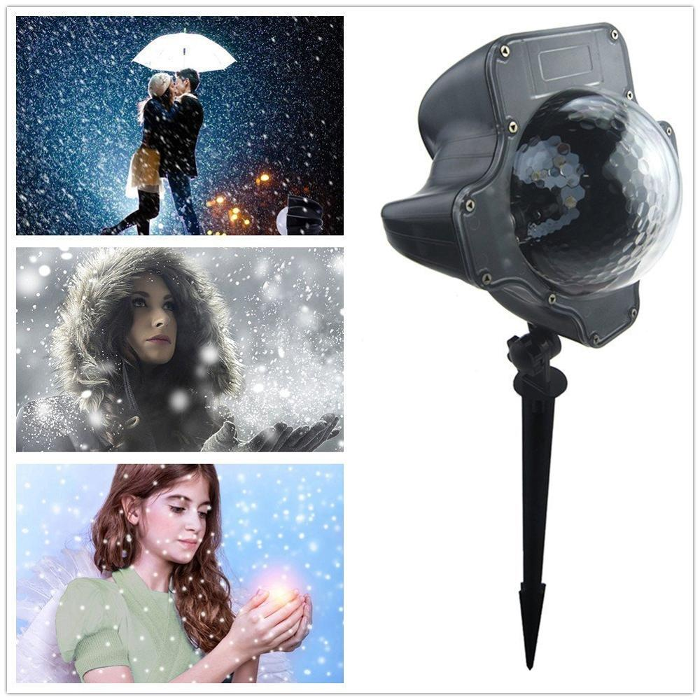 DC6v led xmas snowfall light waterproof ip65 outdoor white snow projector Landscape
