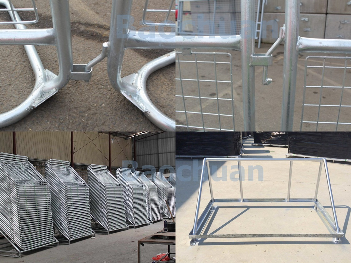 1.5m Heavy Duty Crowd police Barrier Temporary Fence