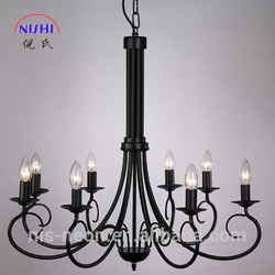 High Quality NS-120137 Long Crystal Pendant Chandelier Black Lights