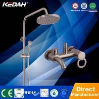 KEDAH Brass nickel brushed shower set bathroom shower mixer faucet tap