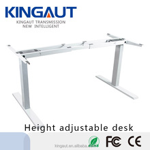 2017 Professional new design office desk electric lifting column height adjustable desk kingaut